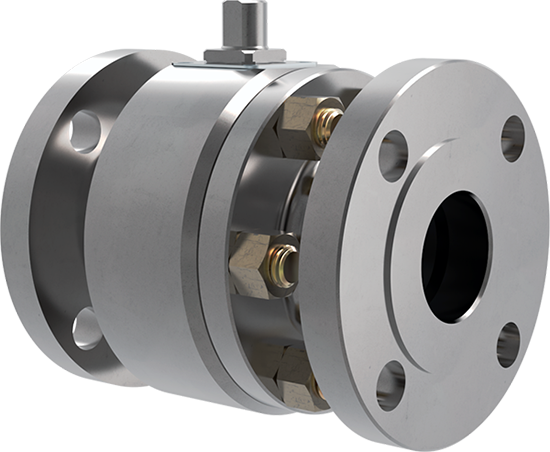 two parts floating ball valve  trunnion mounted